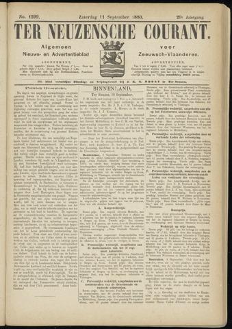 Ter Neuzensche Courant. Algemeen Nieuws- en Advertentieblad voor Zeeuwsch-Vlaanderen / Neuzensche Courant ... (idem) / (Algemeen) nieuws en advertentieblad voor Zeeuwsch-Vlaanderen 1880-09-11