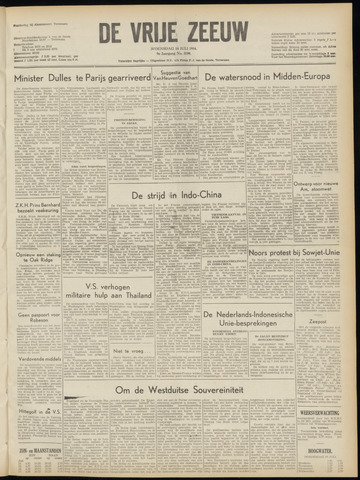 de Vrije Zeeuw 1954-07-14