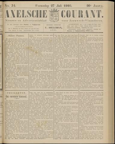 Axelsche Courant 1910-07-27