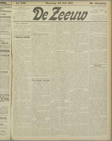 De Zeeuw. Christelijk-historisch nieuwsblad voor Zeeland 1917-07-23