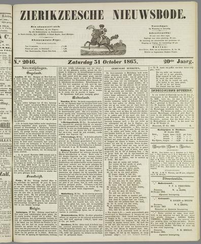 Zierikzeesche Nieuwsbode 1863-10-31