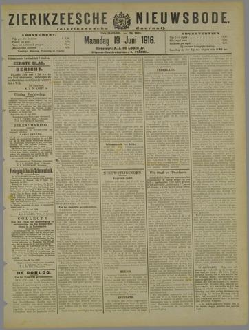 Zierikzeesche Nieuwsbode 1916-06-19