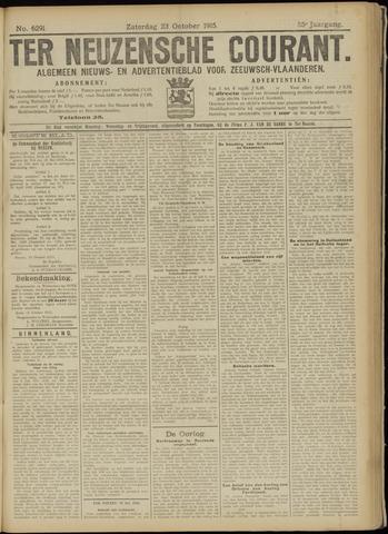 Ter Neuzensche Courant. Algemeen Nieuws- en Advertentieblad voor Zeeuwsch-Vlaanderen / Neuzensche Courant ... (idem) / (Algemeen) nieuws en advertentieblad voor Zeeuwsch-Vlaanderen 1915-10-23