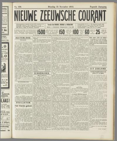 Nieuwe Zeeuwsche Courant 1913-11-25