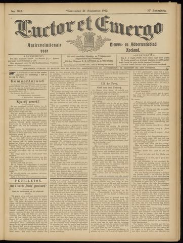 Luctor et Emergo. Antirevolutionair nieuws- en advertentieblad voor Zeeland / Zeeuwsch-Vlaanderen. Orgaan ter verspreiding van de christelijke beginselen in Zeeuwsch-Vlaanderen 1912-08-21