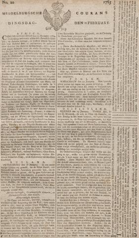 Middelburgsche Courant 1785-02-15