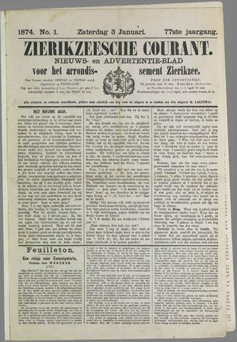 Zierikzeesche Courant 1874