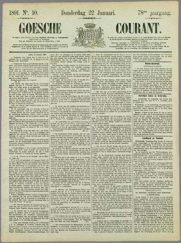 Goessche Courant 1891-01-22