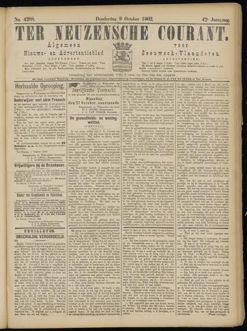 Ter Neuzensche Courant. Algemeen Nieuws- en Advertentieblad voor Zeeuwsch-Vlaanderen / Neuzensche Courant ... (idem) / (Algemeen) nieuws en advertentieblad voor Zeeuwsch-Vlaanderen 1902-10-09