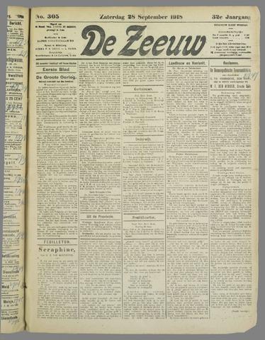 De Zeeuw. Christelijk-historisch nieuwsblad voor Zeeland 1918-09-28