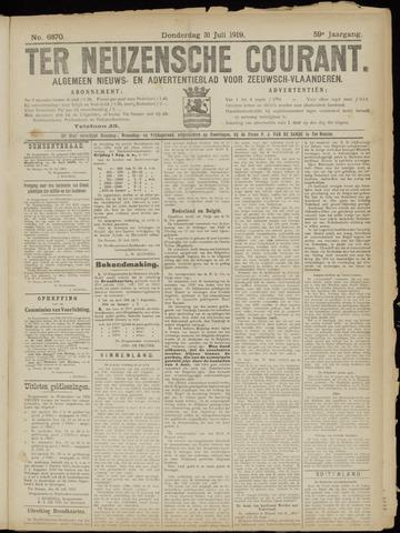 Ter Neuzensche Courant. Algemeen Nieuws- en Advertentieblad voor Zeeuwsch-Vlaanderen / Neuzensche Courant ... (idem) / (Algemeen) nieuws en advertentieblad voor Zeeuwsch-Vlaanderen 1919-07-31
