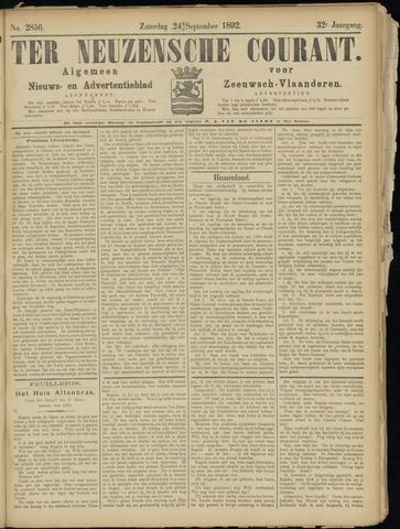Ter Neuzensche Courant. Algemeen Nieuws- en Advertentieblad voor Zeeuwsch-Vlaanderen / Neuzensche Courant ... (idem) / (Algemeen) nieuws en advertentieblad voor Zeeuwsch-Vlaanderen 1892-09-24