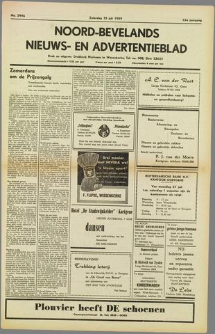 Noord-Bevelands Nieuws- en advertentieblad 1959-07-25