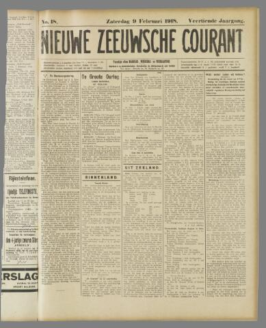 Nieuwe Zeeuwsche Courant 1918-02-09