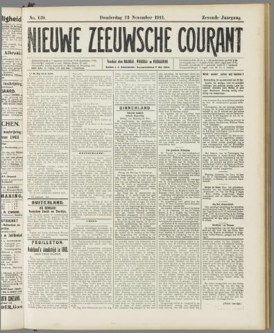 Nieuwe Zeeuwsche Courant 1911-11-23