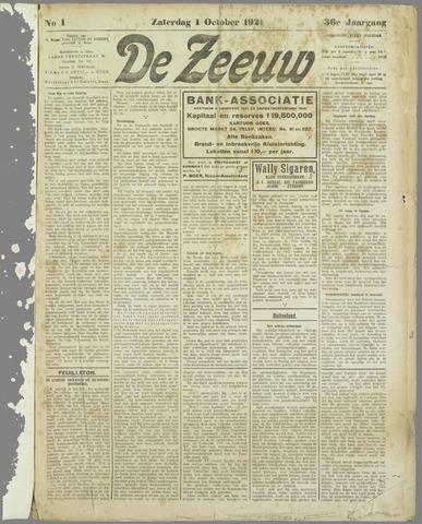 De Zeeuw. Christelijk-historisch nieuwsblad voor Zeeland 1921-10-01