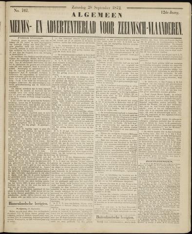 Ter Neuzensche Courant. Algemeen Nieuws- en Advertentieblad voor Zeeuwsch-Vlaanderen / Neuzensche Courant ... (idem) / (Algemeen) nieuws en advertentieblad voor Zeeuwsch-Vlaanderen 1872-09-28