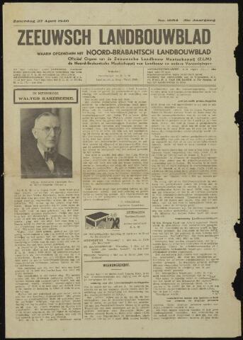 Zeeuwsch landbouwblad ... ZLM land- en tuinbouwblad 1940-04-27
