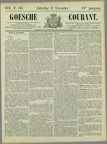 Goessche Courant 1891-11-14