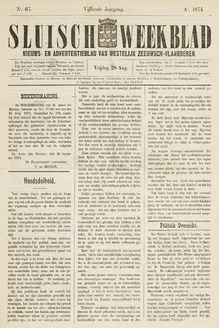 Sluisch Weekblad. Nieuws- en advertentieblad voor Westelijk Zeeuwsch-Vlaanderen 1874-08-28