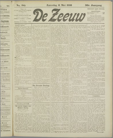De Zeeuw. Christelijk-historisch nieuwsblad voor Zeeland 1916-05-06
