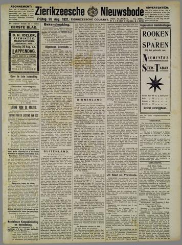 Zierikzeesche Nieuwsbode 1921-08-26