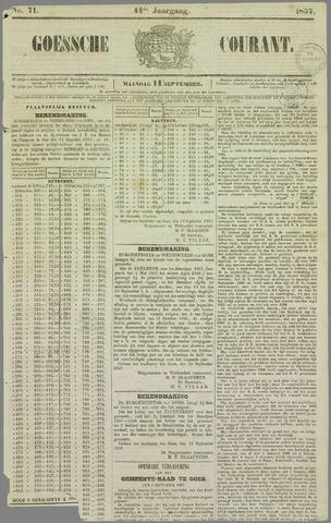 Goessche Courant 1857-09-14