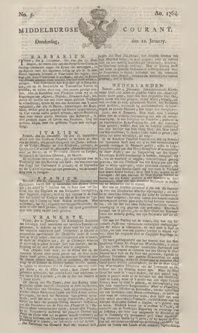 Middelburgsche Courant 1764-01-12
