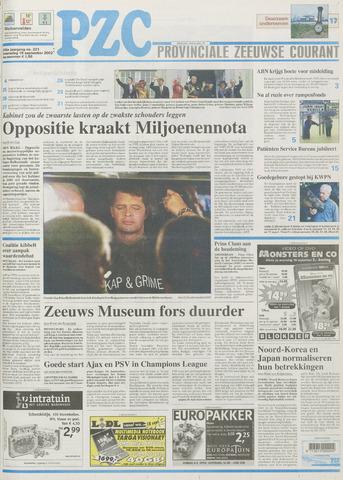 Provinciale Zeeuwse Courant 2002-09-18