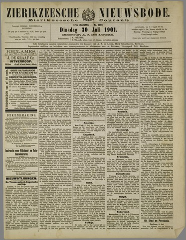 Zierikzeesche Nieuwsbode 1901-07-30