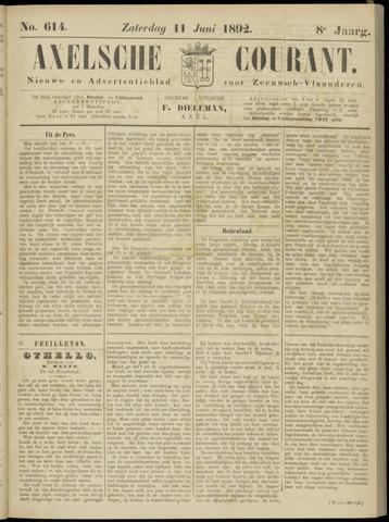 Axelsche Courant 1892-06-11