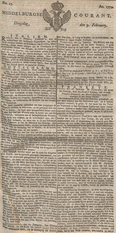Middelburgsche Courant 1779-02-09