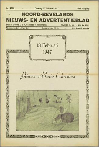 Noord-Bevelands Nieuws- en advertentieblad 1947-02-22