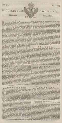 Middelburgsche Courant 1764-05-05
