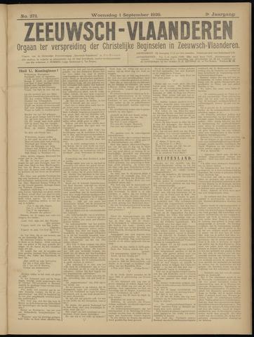 Luctor et Emergo. Antirevolutionair nieuws- en advertentieblad voor Zeeland / Zeeuwsch-Vlaanderen. Orgaan ter verspreiding van de christelijke beginselen in Zeeuwsch-Vlaanderen 1920-09-01