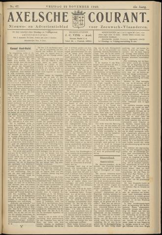 Axelsche Courant 1929-11-22