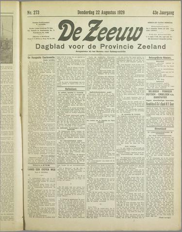 De Zeeuw. Christelijk-historisch nieuwsblad voor Zeeland 1929-08-22