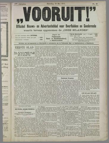 """""""Vooruit!""""Officieel Nieuws- en Advertentieblad voor Overflakkee en Goedereede 1917-05-19"""
