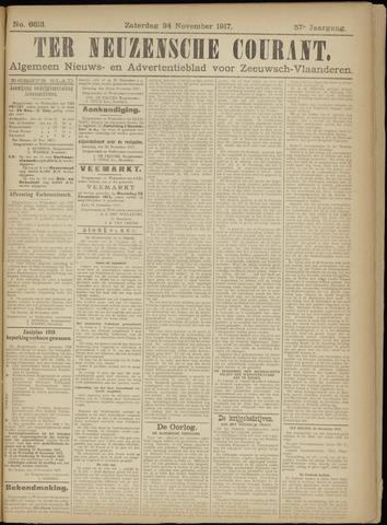 Ter Neuzensche Courant. Algemeen Nieuws- en Advertentieblad voor Zeeuwsch-Vlaanderen / Neuzensche Courant ... (idem) / (Algemeen) nieuws en advertentieblad voor Zeeuwsch-Vlaanderen 1917-11-24