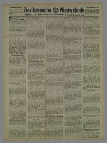 Zierikzeesche Nieuwsbode 1923-07-02