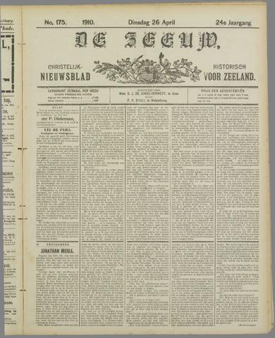 De Zeeuw. Christelijk-historisch nieuwsblad voor Zeeland 1910-04-26