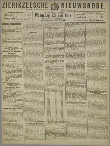 Zierikzeesche Nieuwsbode 1917-07-25
