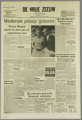 de Vrije Zeeuw 1968-04-18