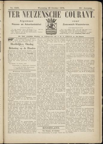 Ter Neuzensche Courant. Algemeen Nieuws- en Advertentieblad voor Zeeuwsch-Vlaanderen / Neuzensche Courant ... (idem) / (Algemeen) nieuws en advertentieblad voor Zeeuwsch-Vlaanderen 1878-10-23