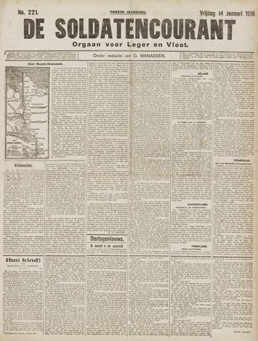 De Soldatencourant. Orgaan voor Leger en Vloot 1916-01-14