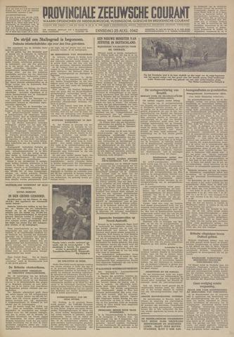 Provinciale Zeeuwse Courant 1942-08-25
