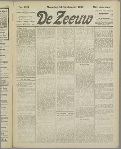 De Zeeuw. Christelijk-historisch nieuwsblad voor Zeeland 1915-09-13