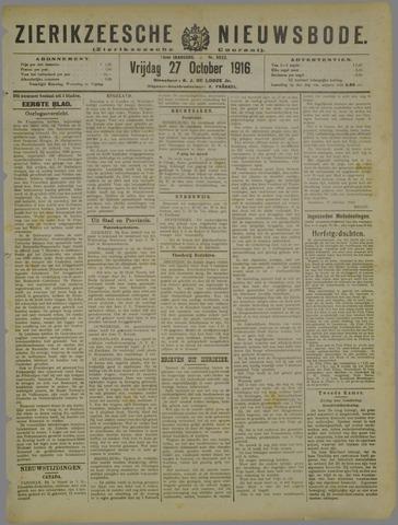 Zierikzeesche Nieuwsbode 1916-10-27