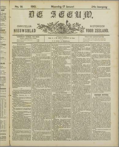 De Zeeuw. Christelijk-historisch nieuwsblad voor Zeeland 1910-01-17