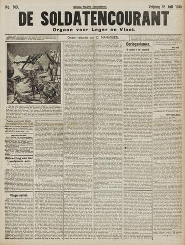De Soldatencourant. Orgaan voor Leger en Vloot 1915-07-16